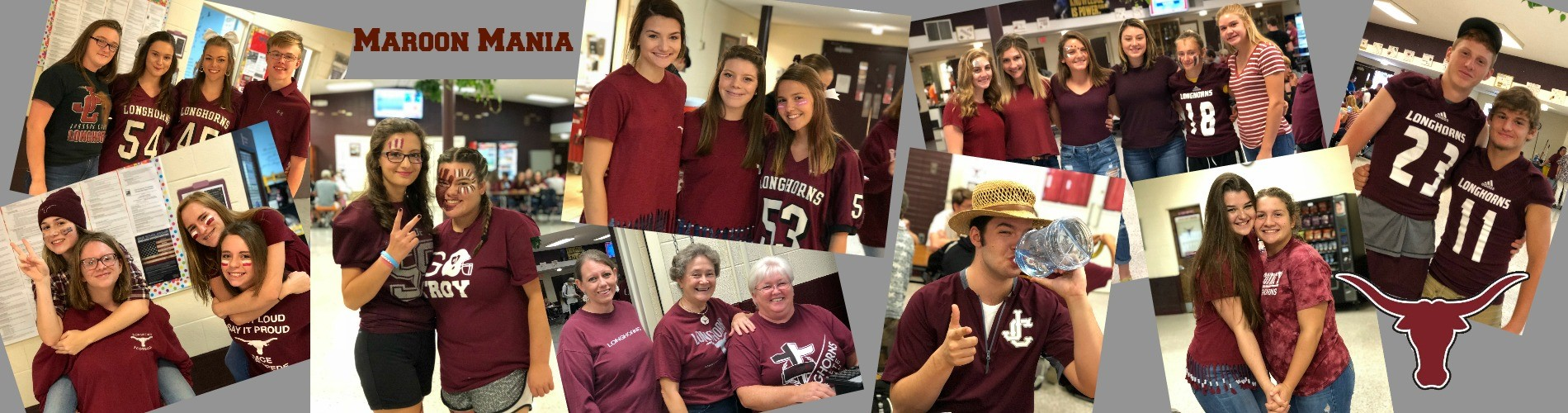 Students in maroon for homecoming.